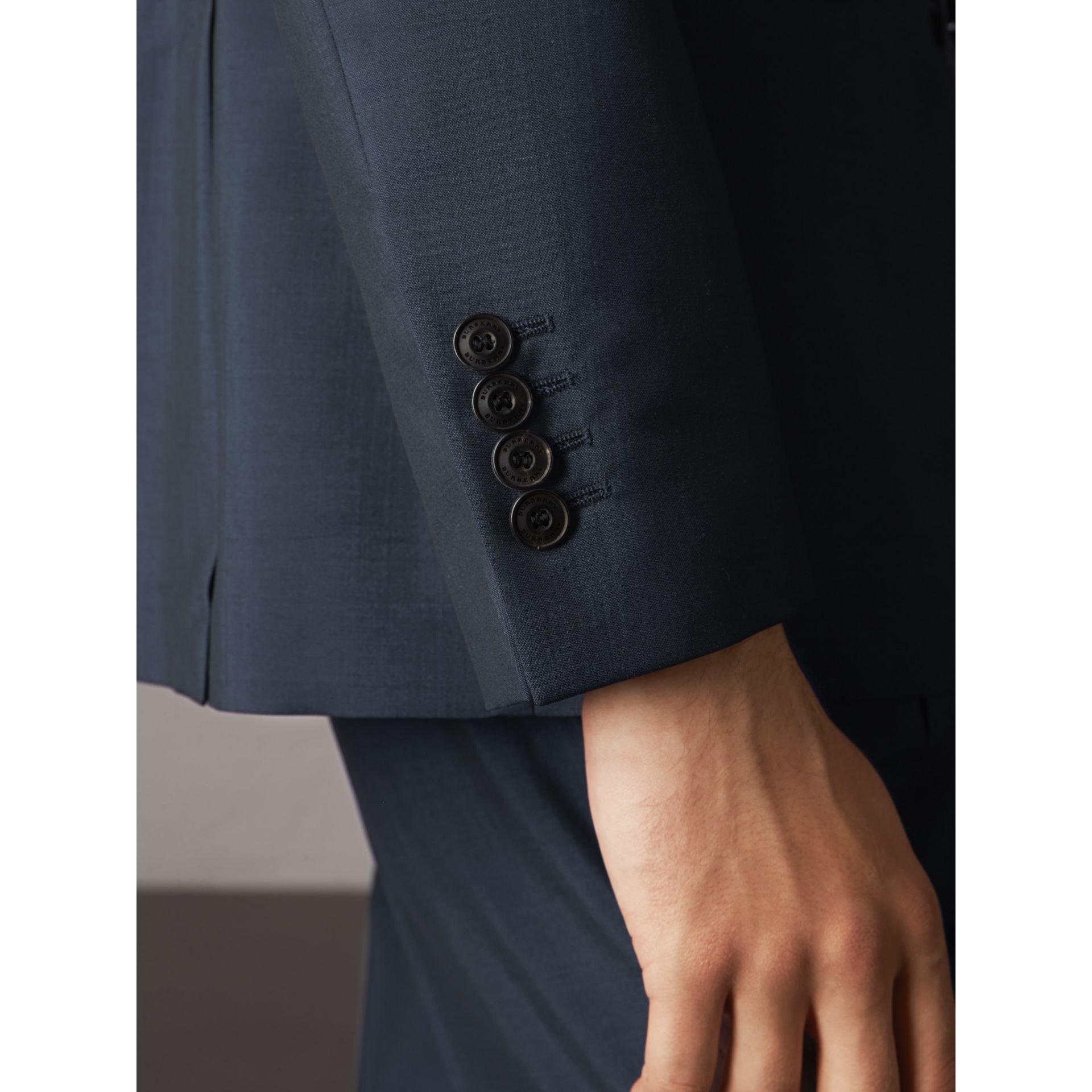 Soho Fit Wool Mohair Suit in Petrol Blue - Men | Burberry - gallery image 8