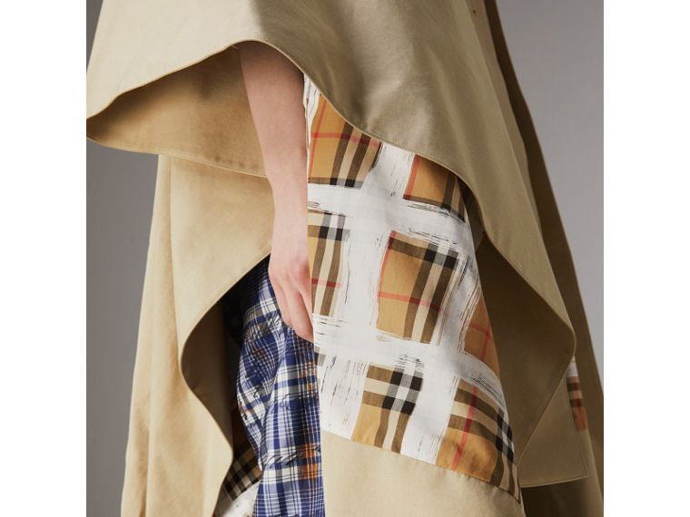 Tropical Gabardine Asymmetric Cape in Oatmeal - Women | Burberry United States - cell image 4