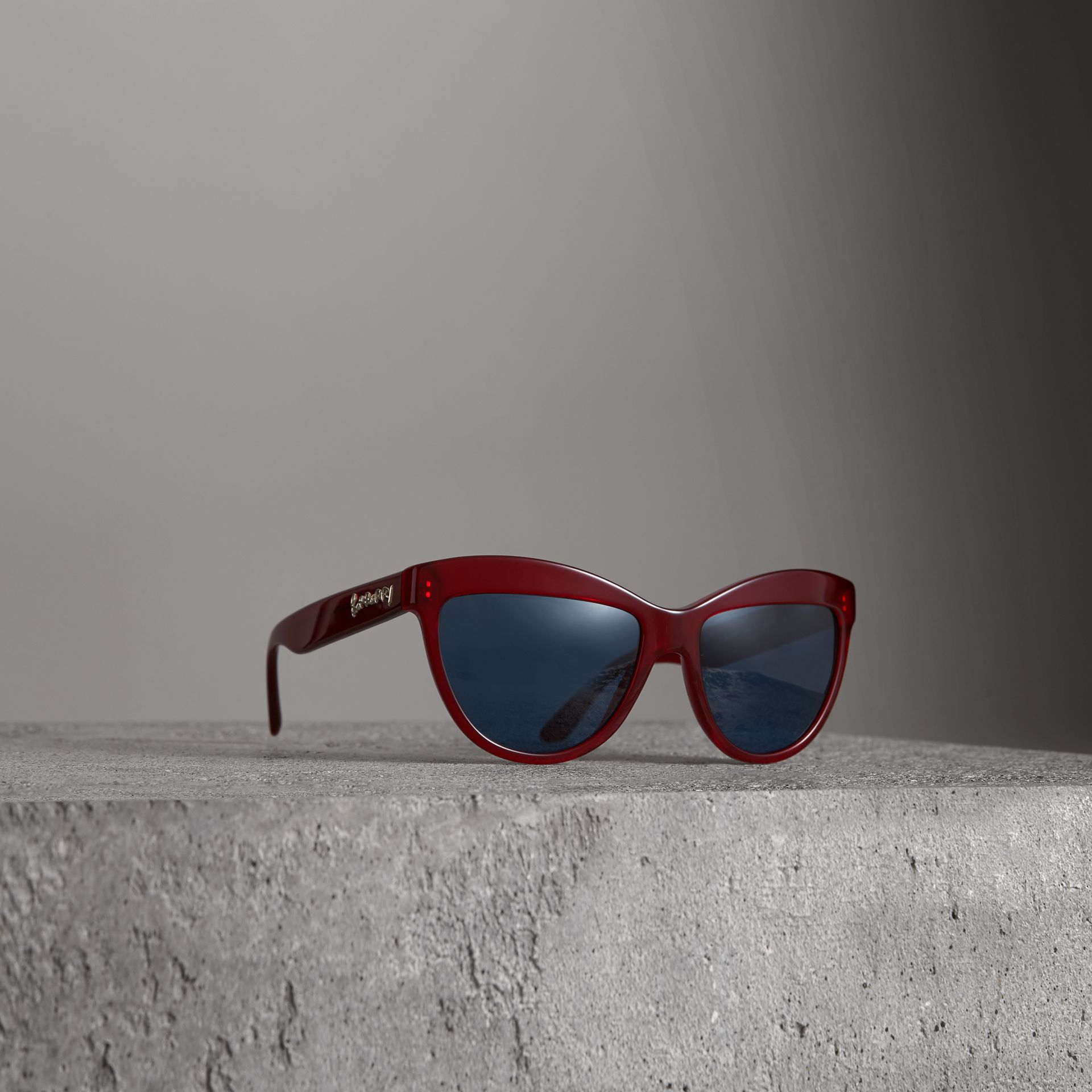 Doodle Cat-eye Frame Sunglasses in Cardinal Red - Women | Burberry - gallery image 0