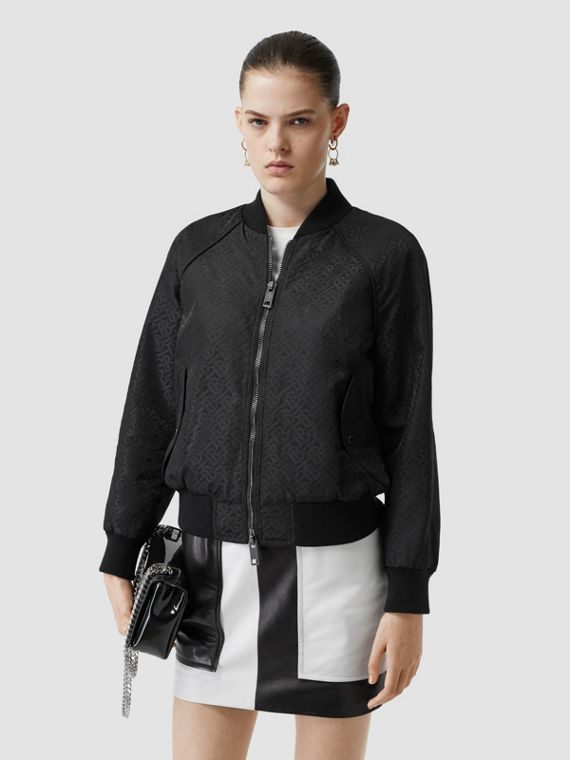 Monogram ECONYL® Jacquard Bomber Jacket in Black