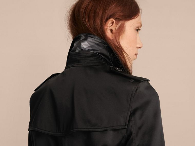 Black Silk Trench Coat - cell image 4