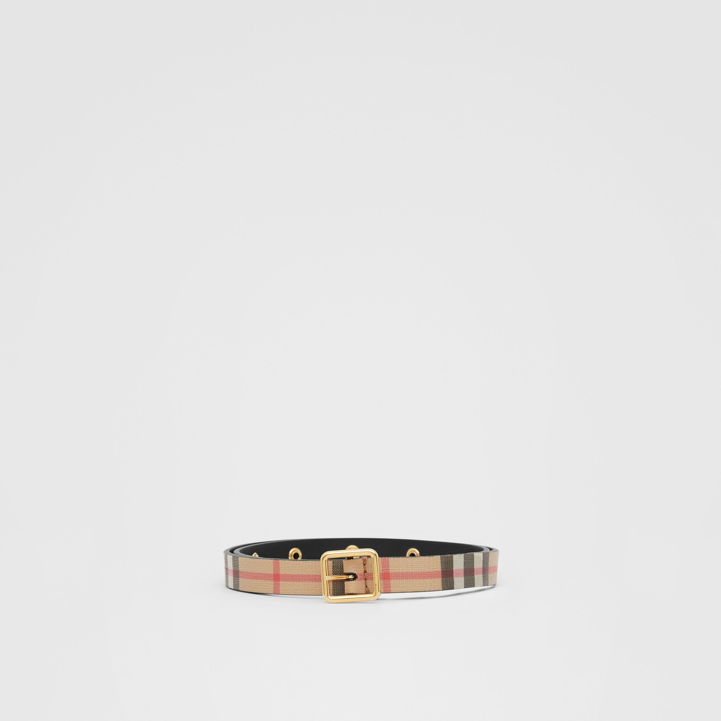D-ring Detail Vintage Check E-canvas Belt in Black - Children | Burberry - 1