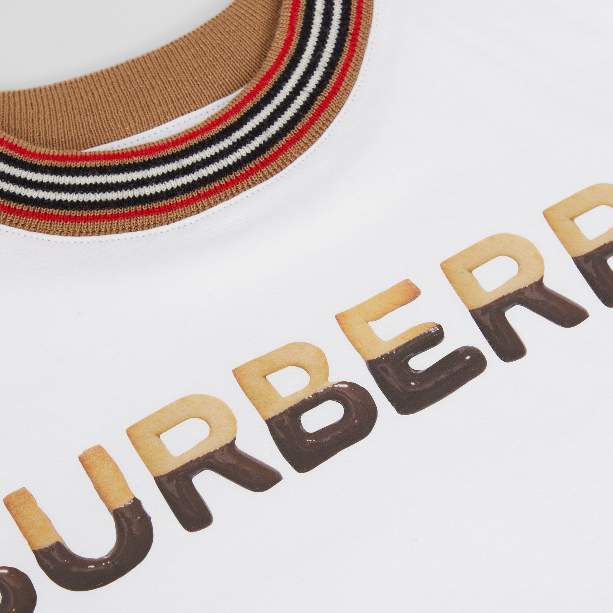 Confectionery Logo Print Cotton T-shirt in White | Burberry - 2