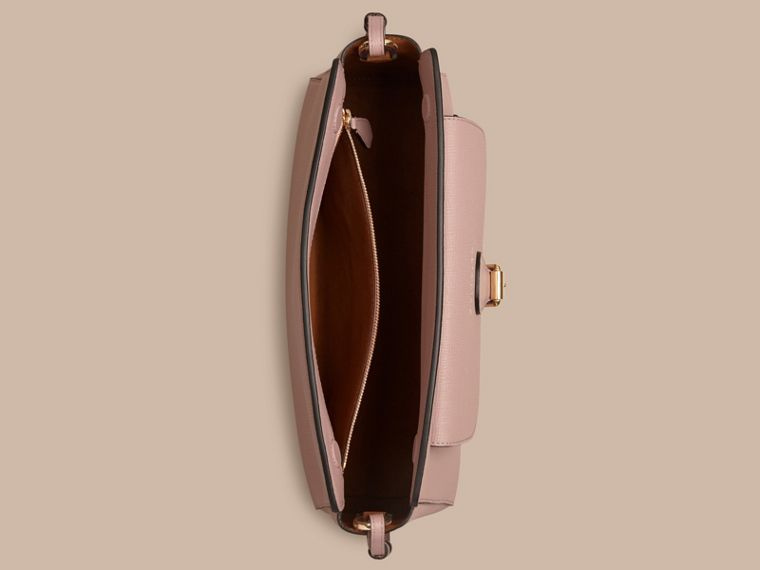 Pale orchid The Saddle Clutch in Grainy Bonded Leather - cell image 4