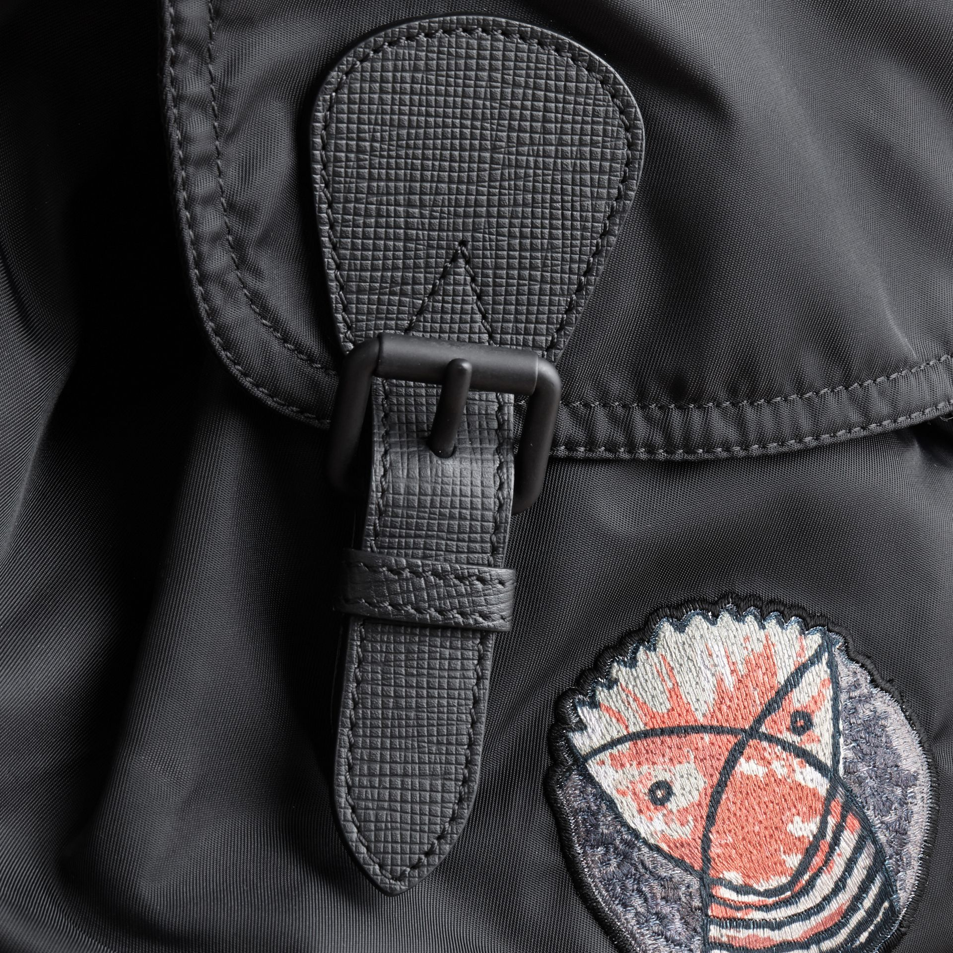 The Large Rucksack in Technical Nylon with Pallas Heads Appliqué - gallery image 6