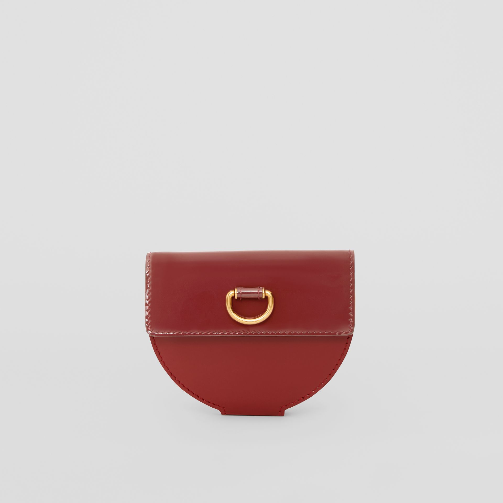 D-ring Detail Patent Leather Coin Case in Crimson - Women | Burberry United States - gallery image 5