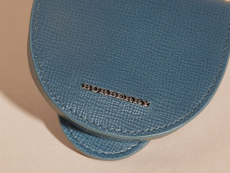 London Leather Coin Case in Mineral Blue - cell image 1