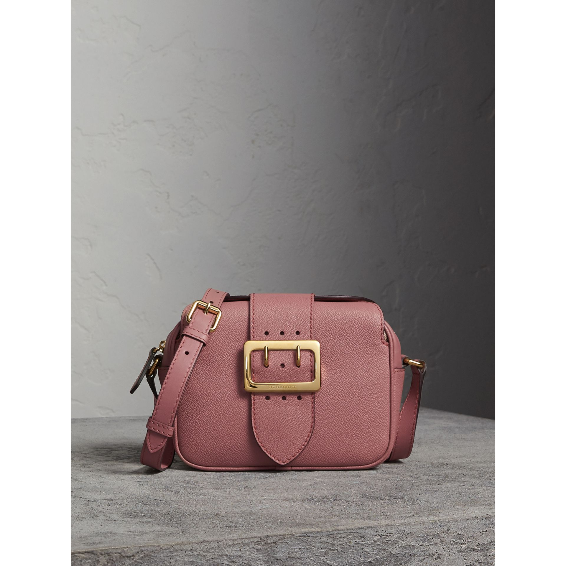 The Small Buckle Crossbody Bag in Leather in Dusty Pink - Women | Burberry - gallery image 0