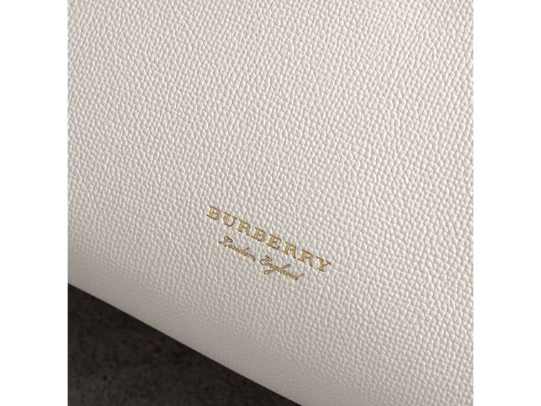 The Medium Banner in Leather and House Check in Natural/black - Women | Burberry United States - cell image 1