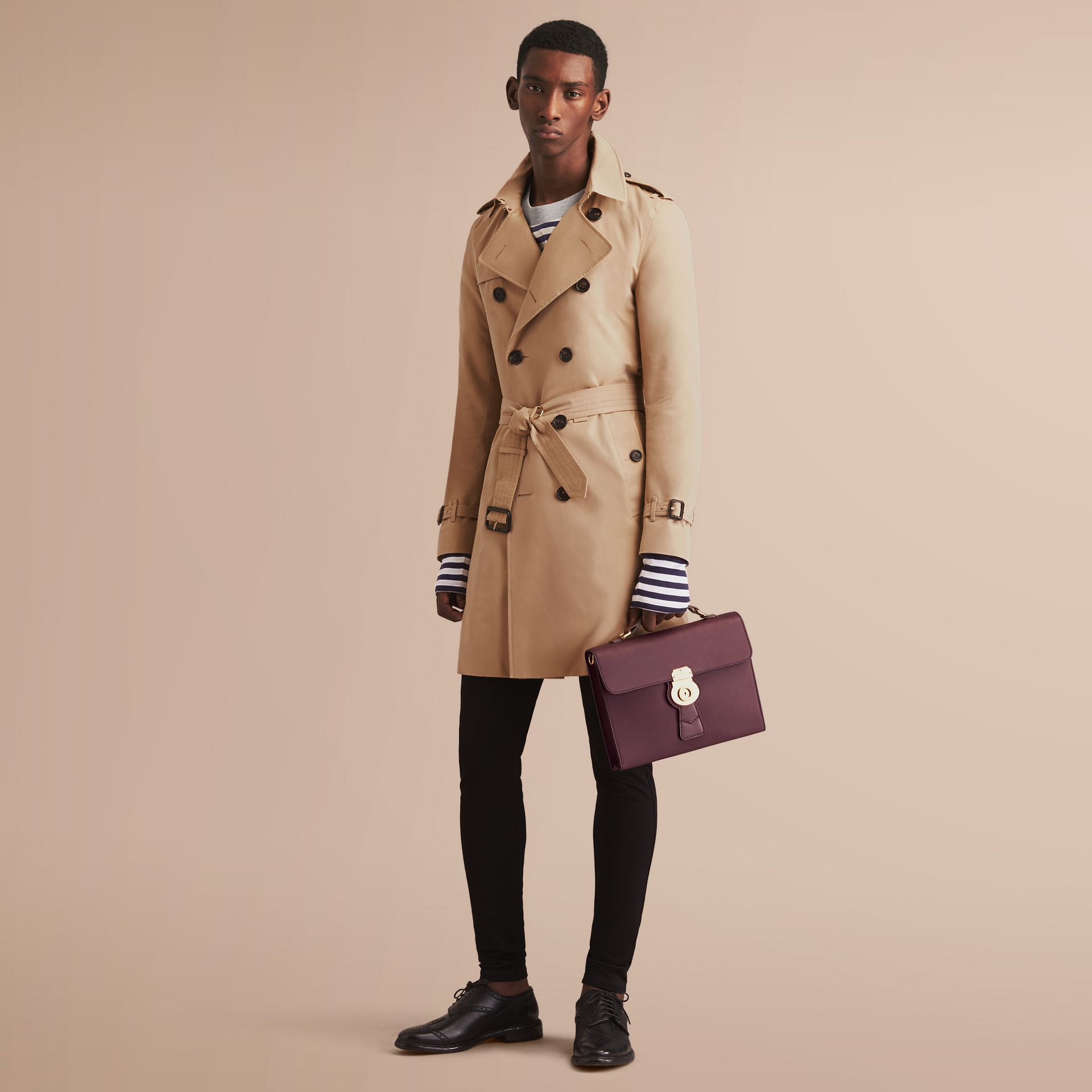 The Sandringham – Long Heritage Trench Coat in Honey - gallery image 8