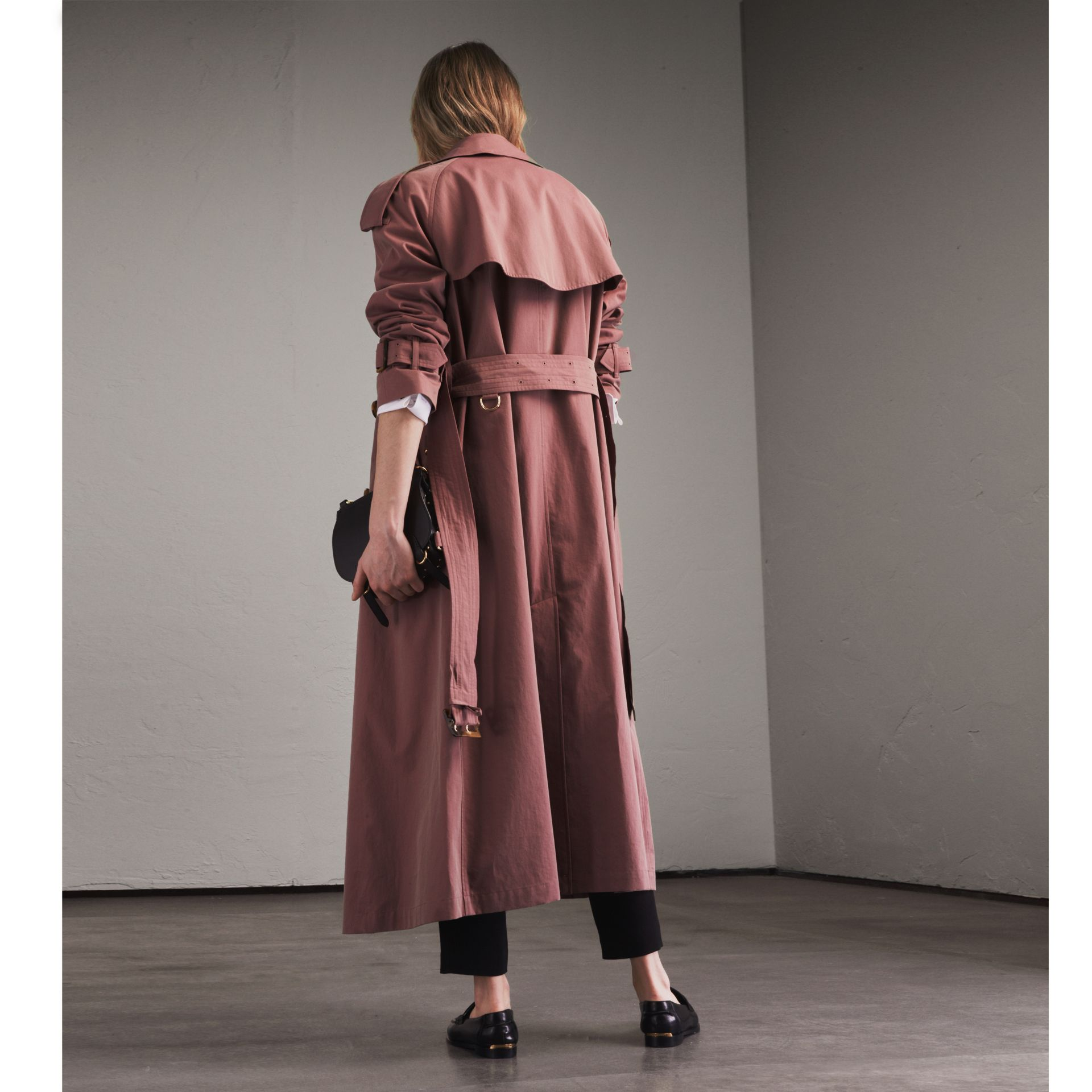 Tropical Gabardine Trench Coat in Antique Rose - Women | Burberry Singapore - gallery image 3