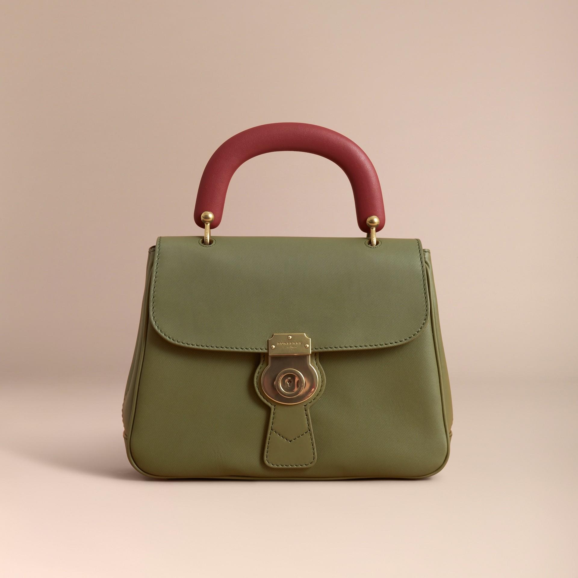 The Medium DK88 Top Handle Bag Moss Green - gallery image 9
