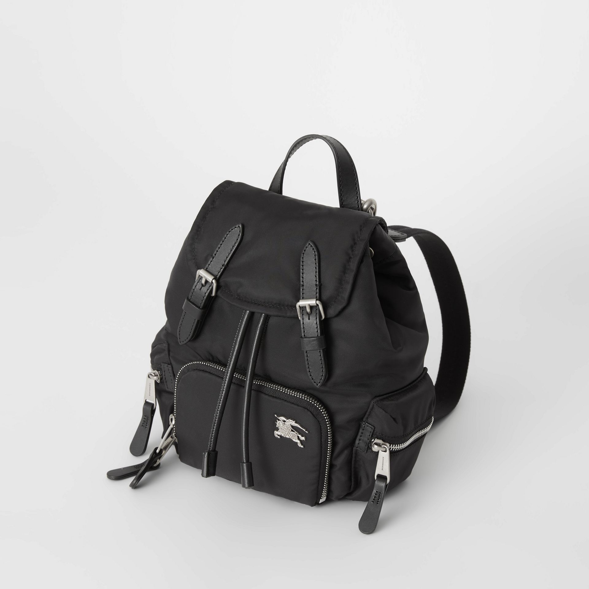 The Small Crossbody Rucksack in Puffer Nylon in Black - Women | Burberry United States - gallery image 4