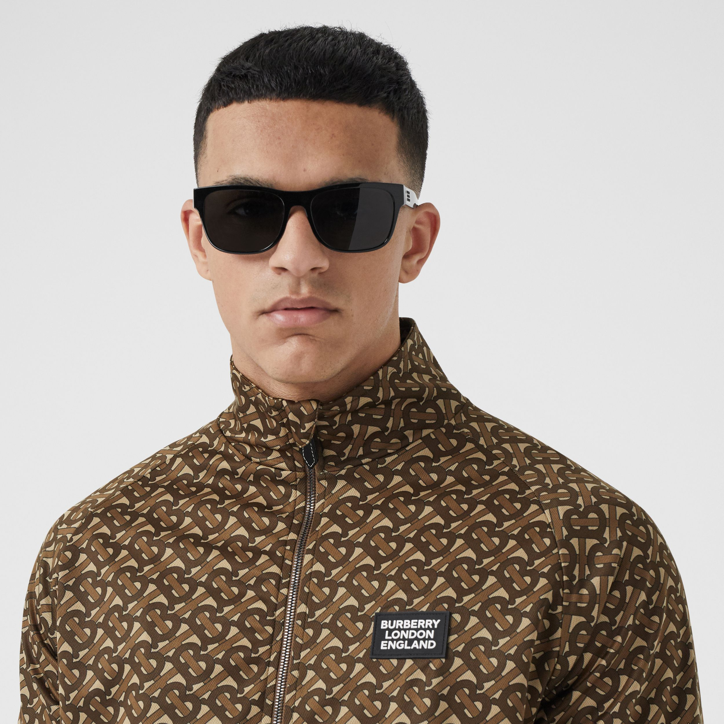 Monogram Print Technical Twill Track Top - Men | Burberry - 2