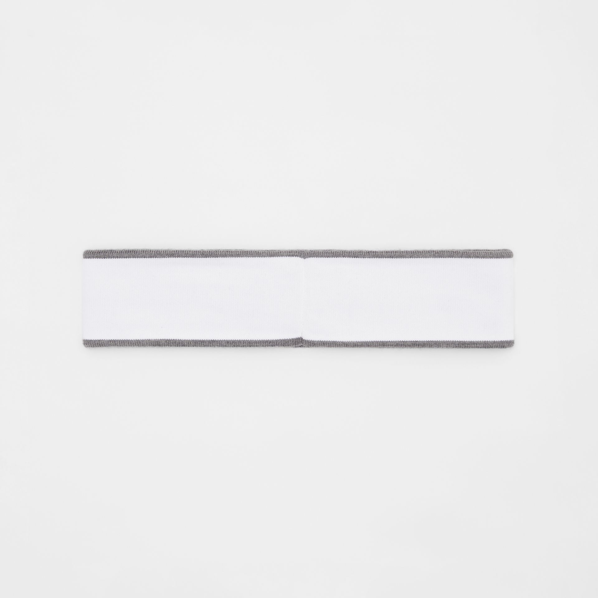 Logo Intarsia Wool Blend Headband in White/mid Grey | Burberry United States - gallery image 4
