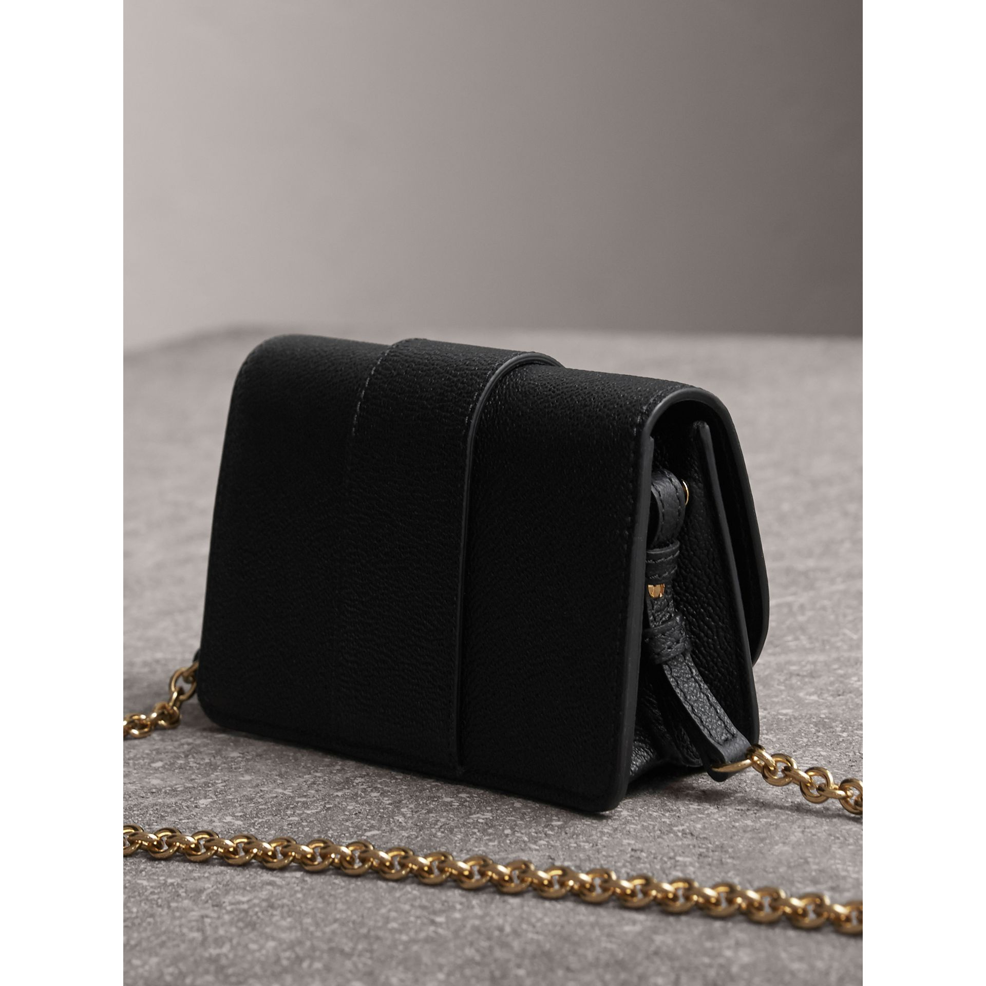 The Mini Buckle Bag in Grainy Leather in Black - gallery image 5