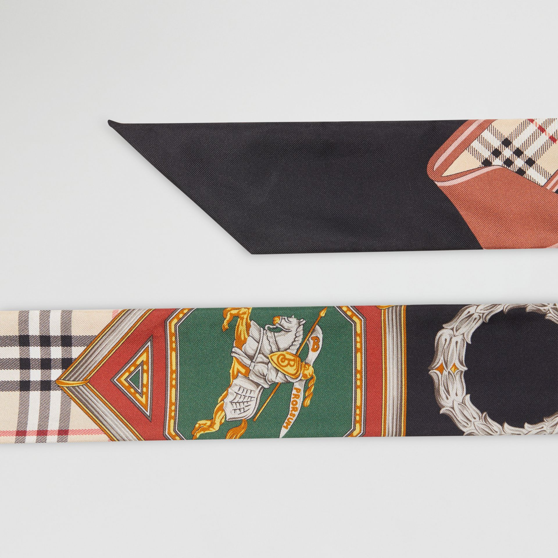 Archive Scarf Print Silk Skinny Scarf in Multicolour - Women | Burberry Australia - gallery image 5