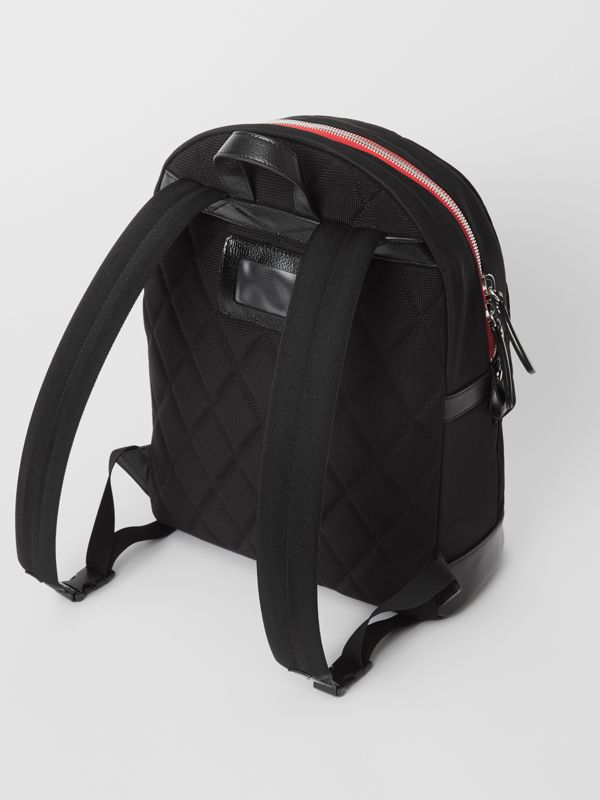 Logo Print Backpack in Black - Children | Burberry - cell image 2