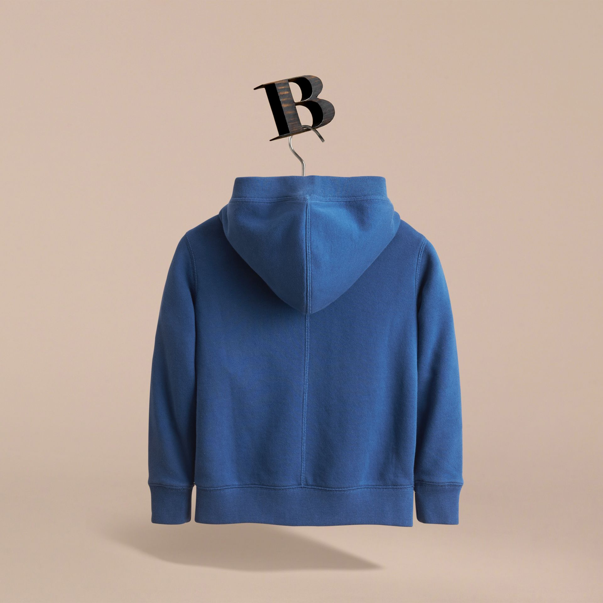 Hooded Cotton Top in Marine Blue - Boy | Burberry - gallery image 4