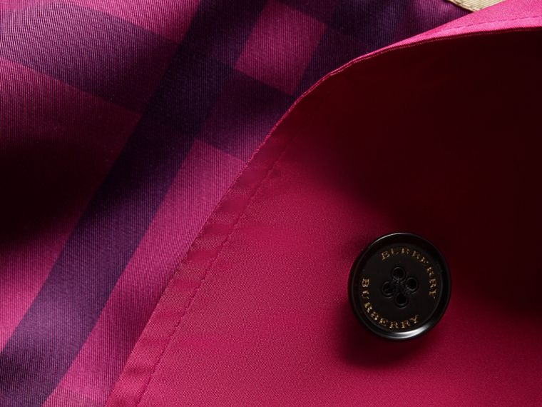 Single-breasted Technical Trench Coat Damson Magenta - cell image 1
