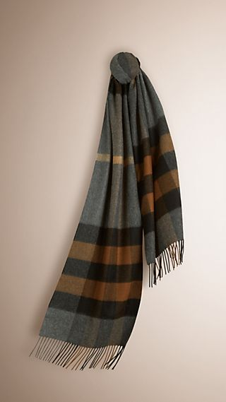 Sciarpa in cashmere con motivo Giant Exploded check
