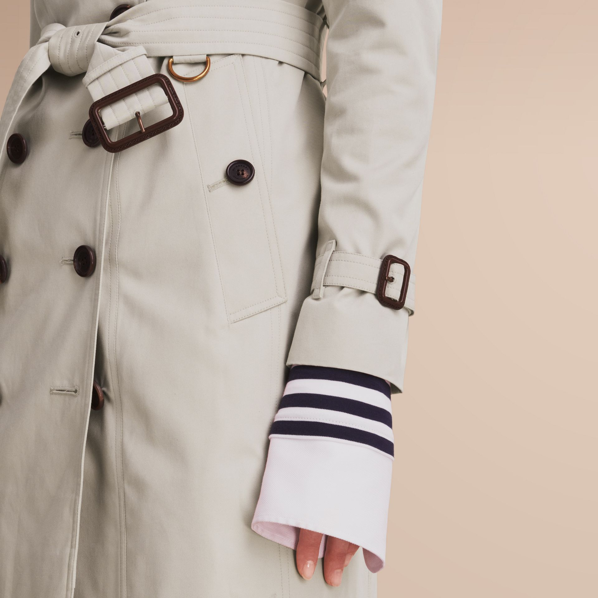 The Sandringham – Mid-Length Heritage Trench Coat in Stone - gallery image 5