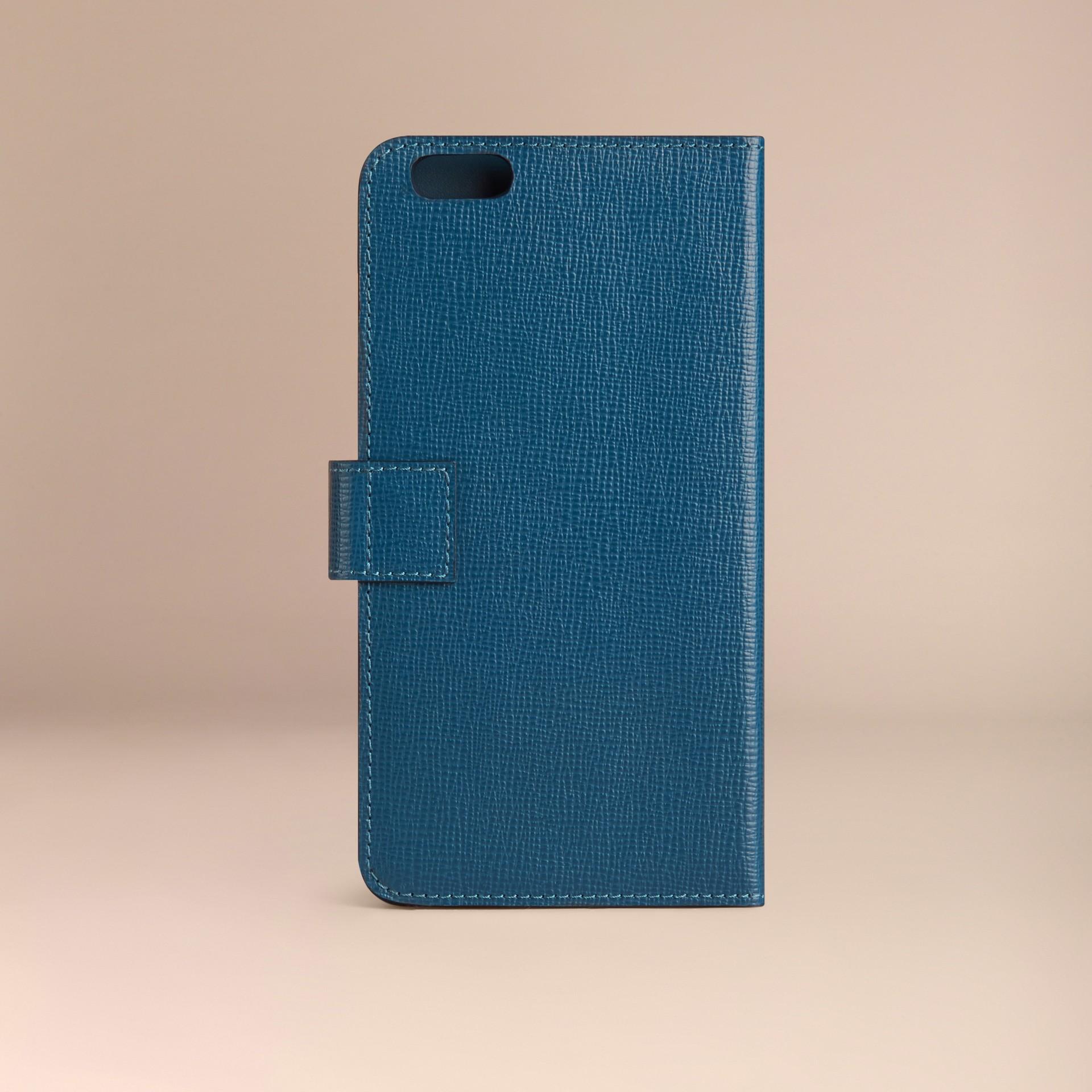 Bleu minéral Étui à rabat pour iPhone6Plus en cuir London Bleu Minéral - photo de la galerie 3