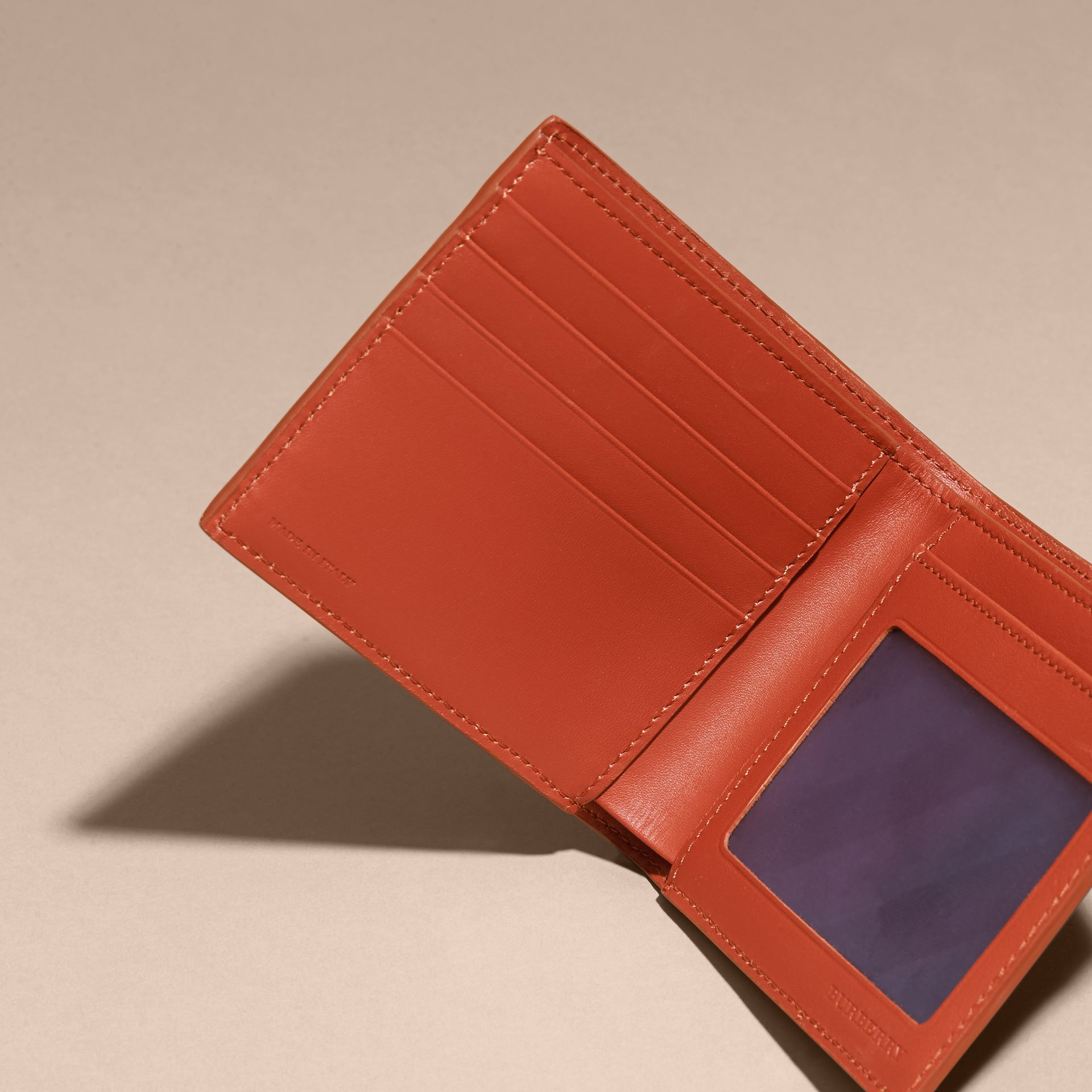 London Leather ID Wallet Burnt Sienna - gallery image 5