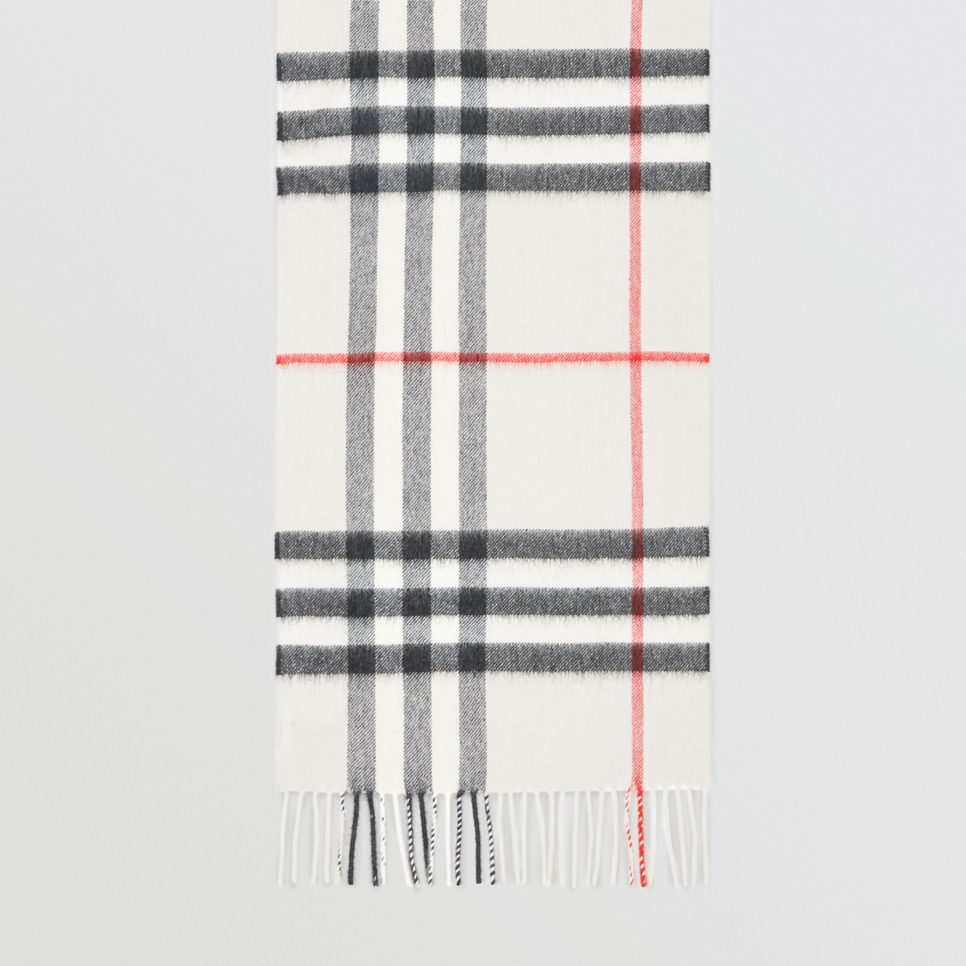 The Classic Check Cashmere Scarf in Stone | Burberry Australia - gallery image 2