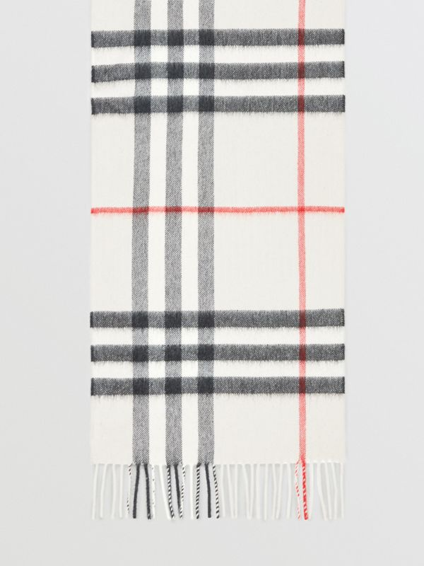 The Classic Check Cashmere Scarf in Stone | Burberry Australia - cell image 2