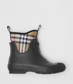 Stivali da pioggia in neoprene e gomma con motivo Vintage check (Nero) 54806a960b4