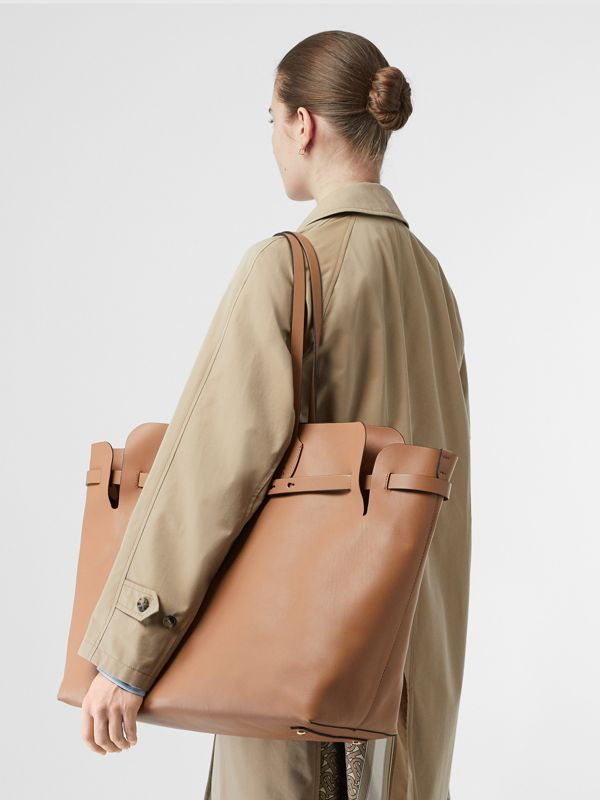 The Large Soft Leather Belt Bag in Light Camel - Women | Burberry United Kingdom - cell image 2