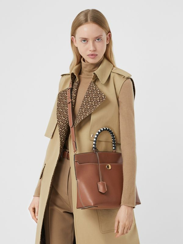 Small Leather Society Top Handle Bag in Tan - Women | Burberry - cell image 2