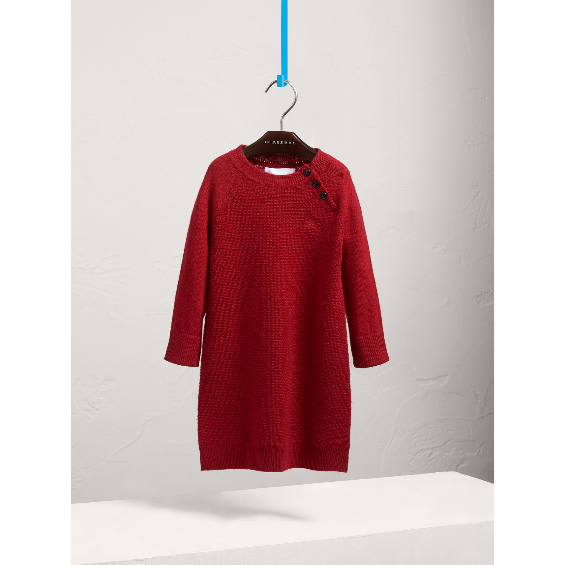 Cashmere Sweater Dress in Parade Red - Girl | Burberry Canada - gallery image 0