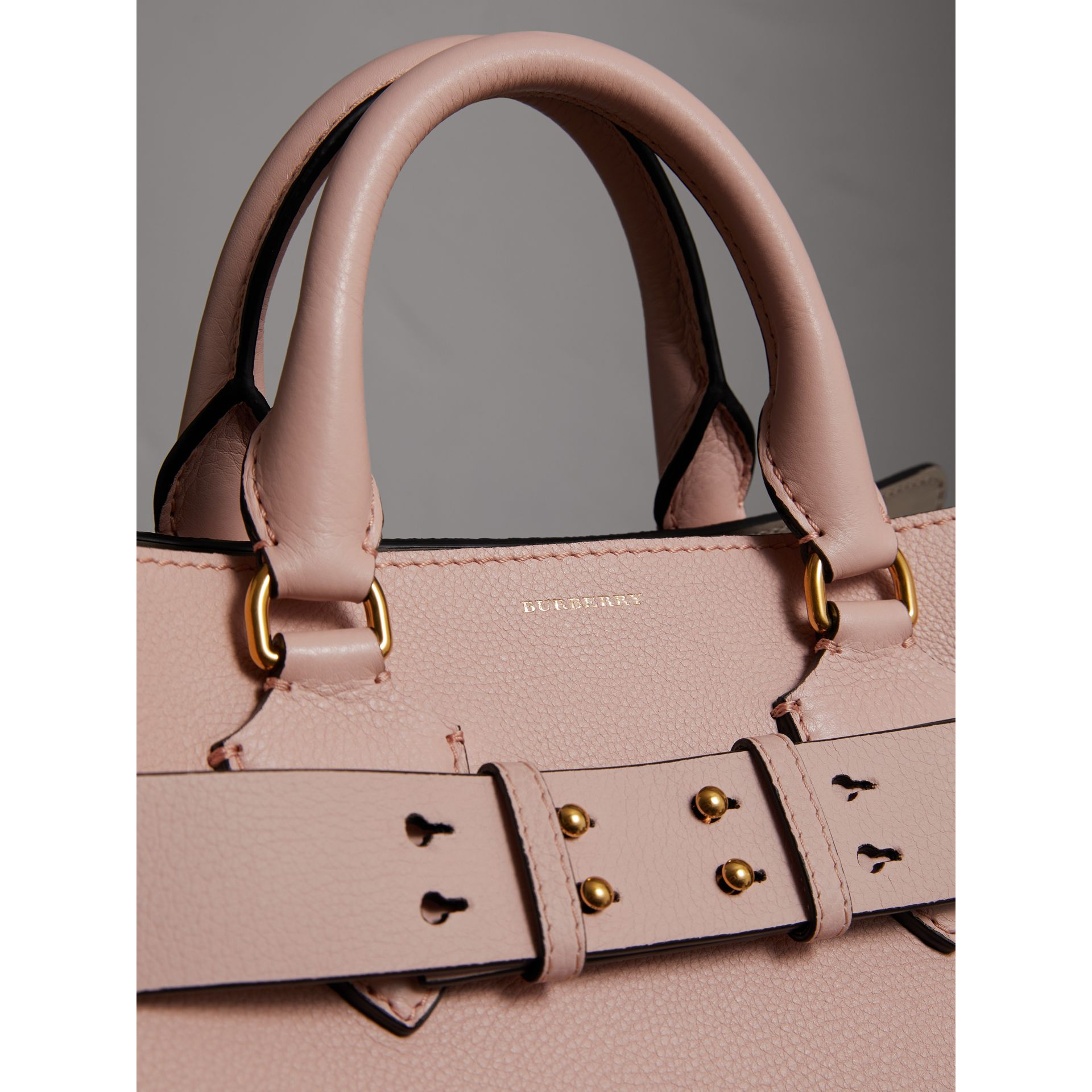 The Medium Leather Belt Bag in Pale Ash Rose - Women | Burberry - gallery image 1