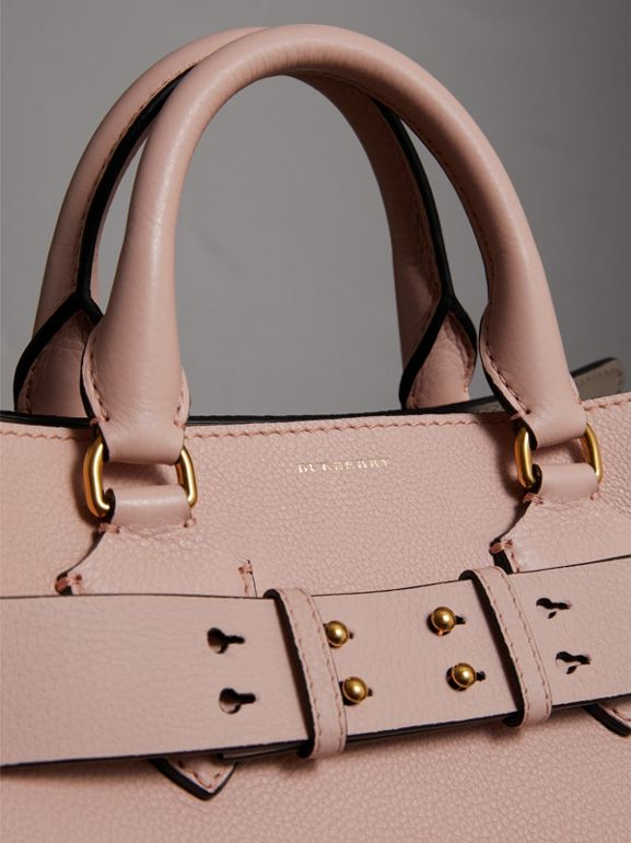 The Medium Leather Belt Bag in Pale Ash Rose - Women | Burberry United Kingdom - cell image 1