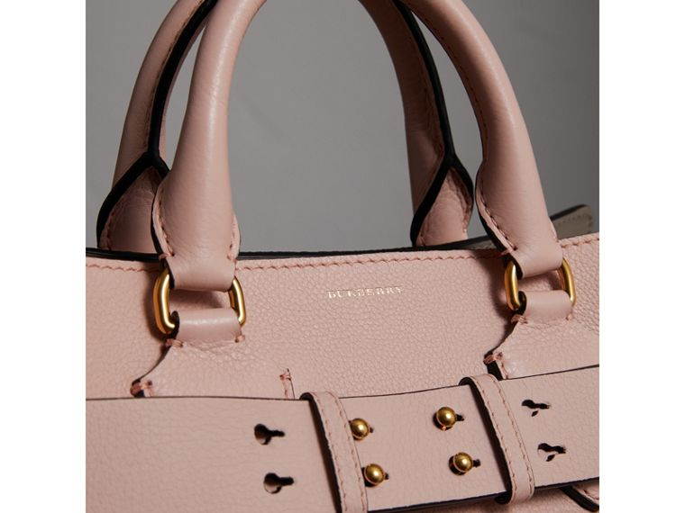 The Medium Leather Belt Bag in Pale Ash Rose - Women | Burberry United States - cell image 1