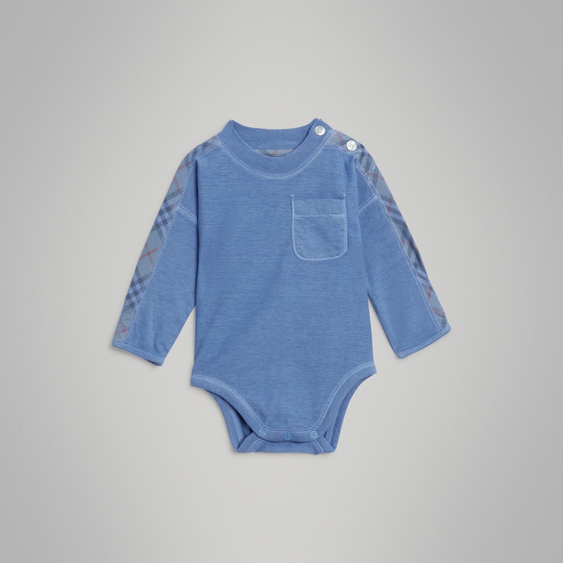 Gift set para bebê de três peças de algodão com detalhe xadrez (Multicolorido) - Crianças | Burberry - galeria de imagens 4