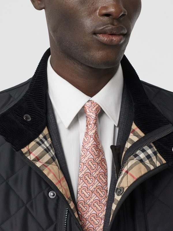 Classic Cut Monogram Print Silk Tie in Pale Copper - Men | Burberry - cell image 2