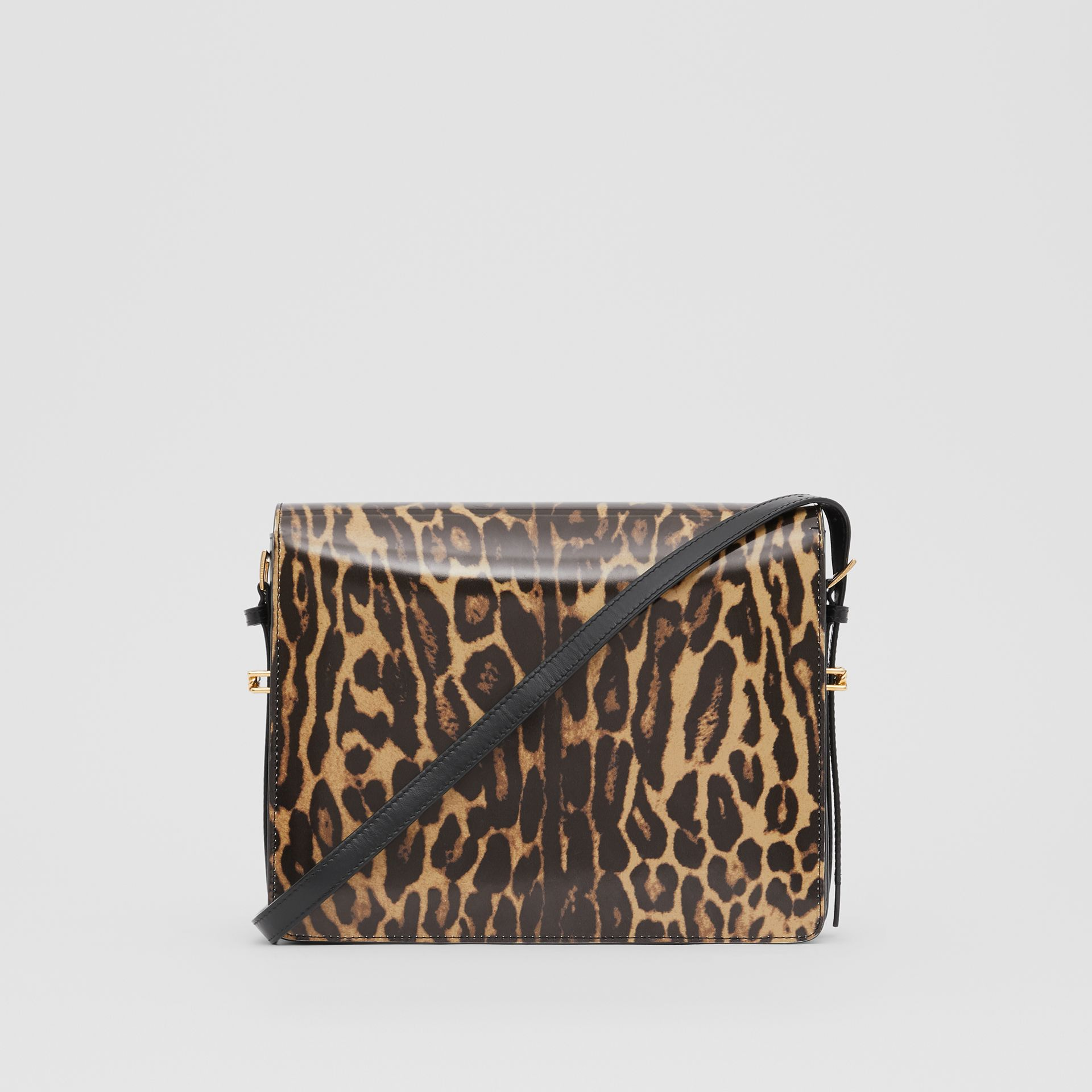 Large Leopard Print Leather Grace Bag in Dark Mustard - Women | Burberry Hong Kong S.A.R - gallery image 7