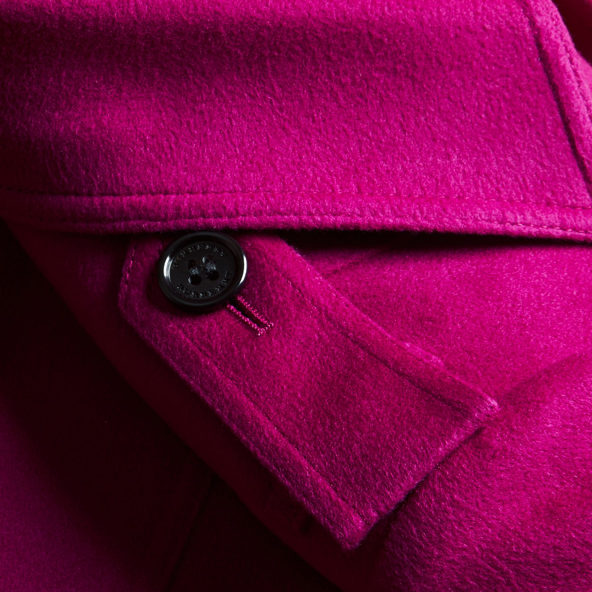 Sandringham Fit Cashmere Trench Coat Fuchsia - gallery image 2