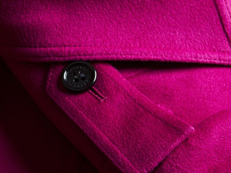Sandringham Fit Cashmere Trench Coat Fuchsia - cell image 1