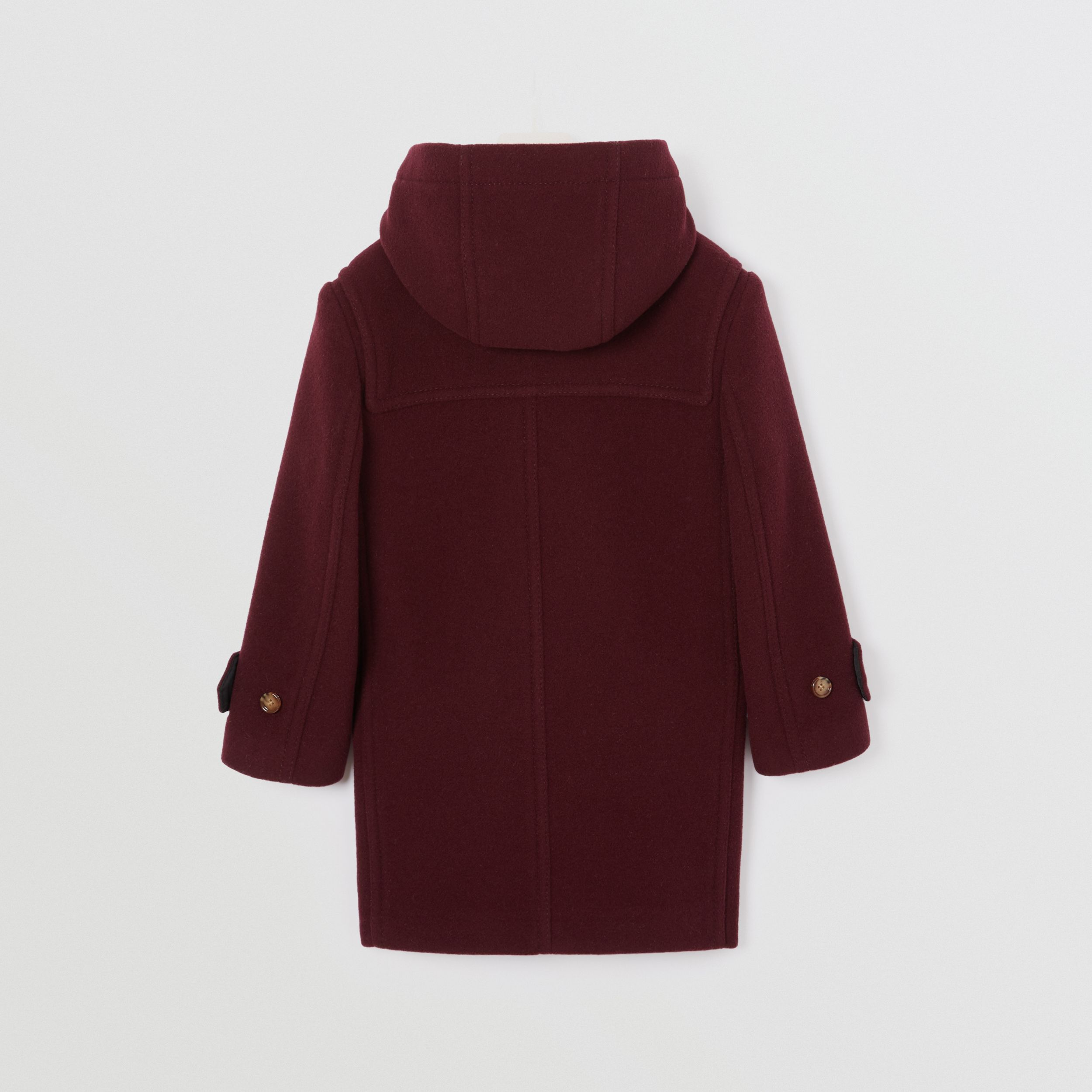 Double-faced Wool Duffle Coat in Burgundy | Burberry - 4