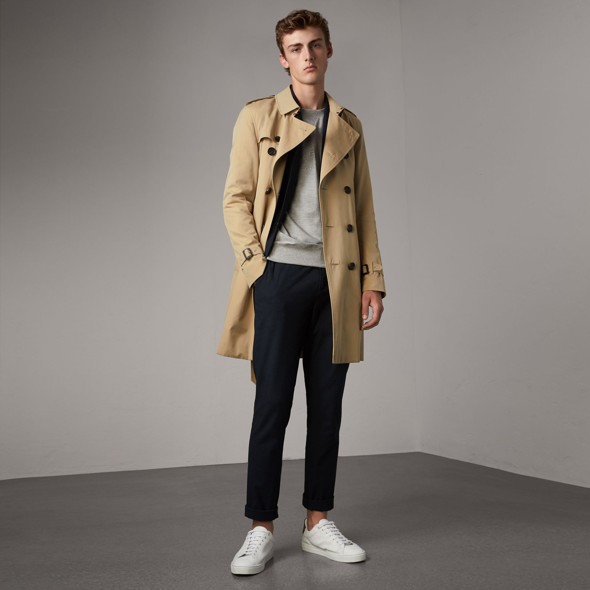 The Sandringham – Long Trench Coat in Honey - Men | Burberry - gallery image 0