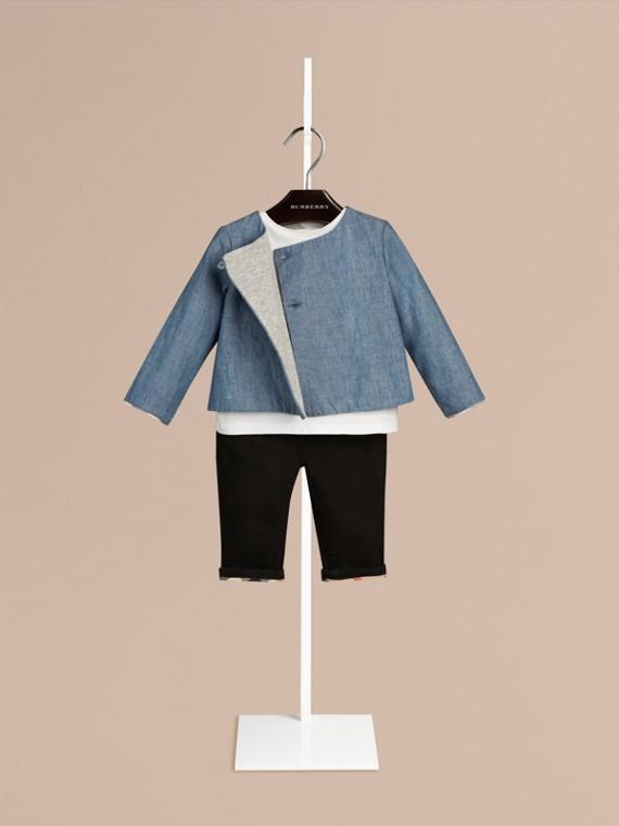 Check Detail Cotton Jacket