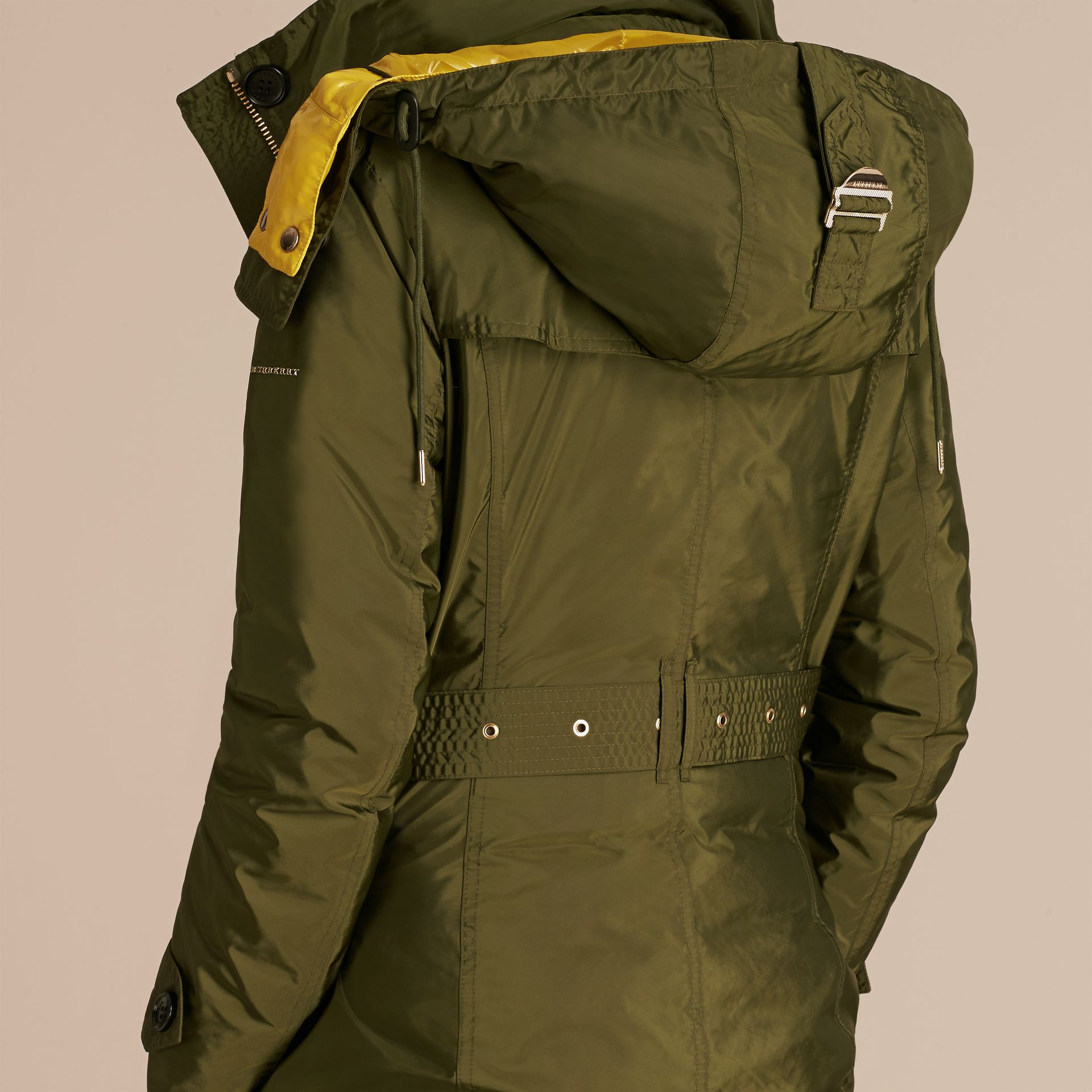 Fur-trimmed Parka with Detachable Down-filled Jacket Bright Moss Green - gallery image 6