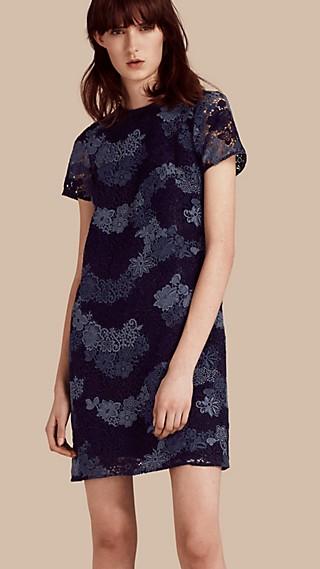 Italian-woven Lace T-shirt Dress