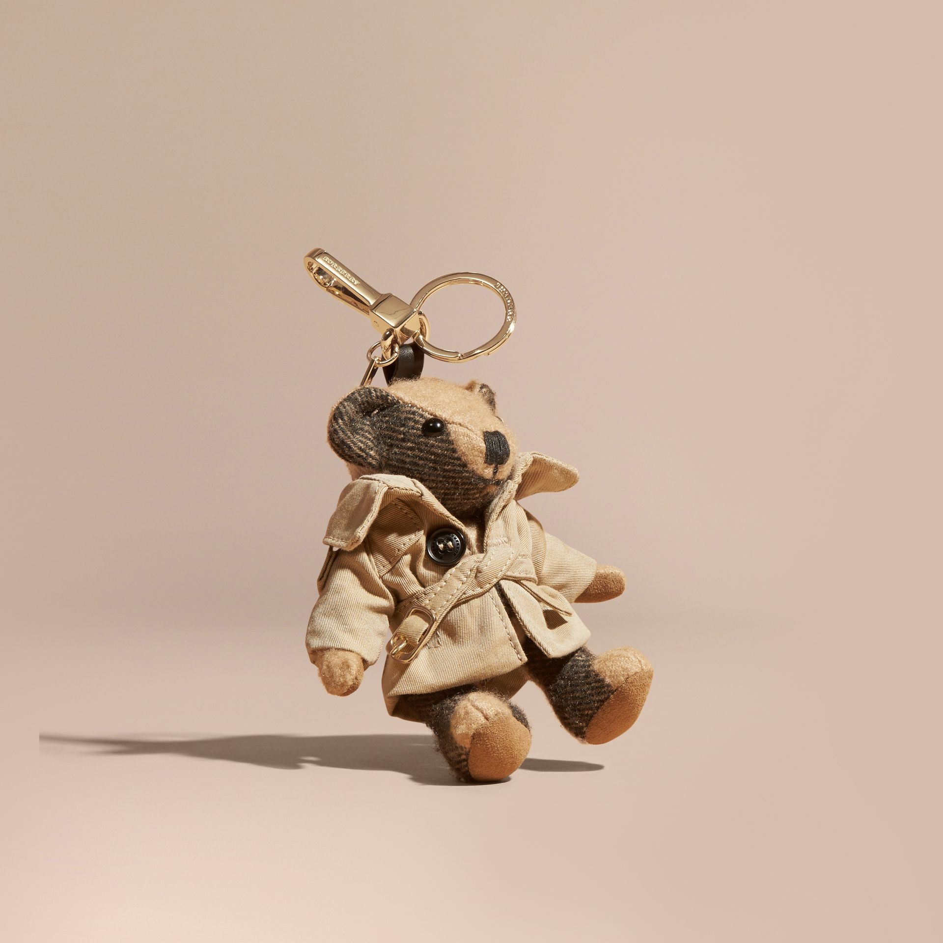 Camel Thomas Bear Charm in Trench Coat - gallery image 1