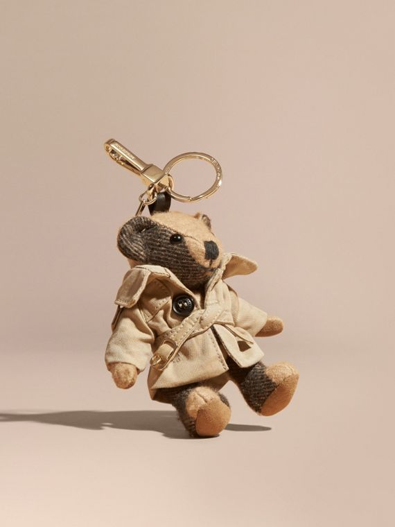 Bijou porte-clés Thomas Bear avec trench-coat