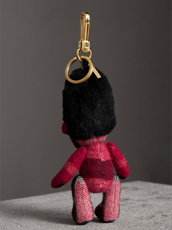 The Guardsman Thomas Bear Charm in Check Cashmere in Parade Red | Burberry United Kingdom - cell image 3